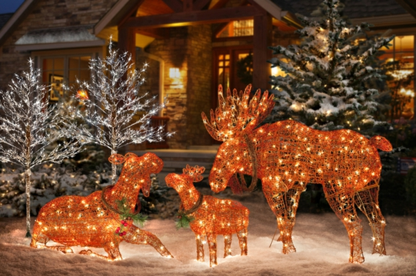 Decoration de noel exterieur decoration home 2016 Decoration de noel exterieur lumineuse